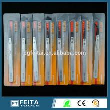 China hand tool Stainless steel ESD/ Anti-static Vetus tweezers Industrial tweezers