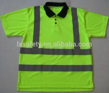 Reflective Safety Short Sleeves Hi Vis Polo Shirt