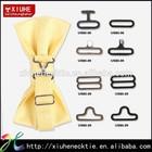 Metal bow tie buckle,slide,hook and eye bow tie hardware