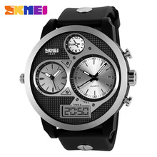 Cheap Creative Dual Core Android 3 Eyes Watch Phone Water-proof Men Watch