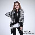 Clásico estilo de chaqueta de punto irregular diseño para mujer chaqueta de punto de fantasía