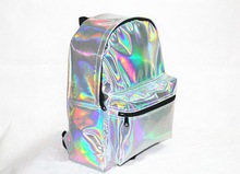 2014 New Arrival Silver Hologram bag Laser Multicolor Men/Women Leather hologram Backpack
