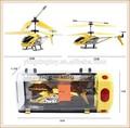 2014 economico hot vendita 3.5ch metallo elicottero con giroscopio(rosso. Arancione, giallo, blu bianco nero) modello king per lo stile bambini
