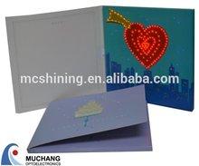Custom glitter led greeting card for new year 2015