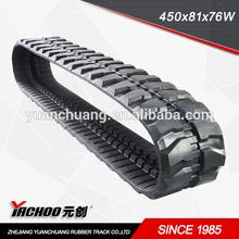 mini excavator rubber tracks used(450*81*76)