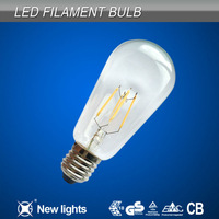 directly take place incandescent light 360 degree bulb 6w e27 led filament lamp