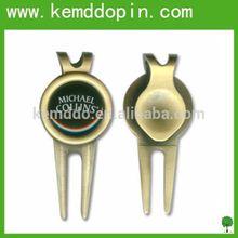 Promotion hot sale antique golf divot tool custom golf divot repair tool with golf ball marker