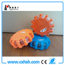 CR123A battery led traffic warning light with magnet,waterproof and shockproof