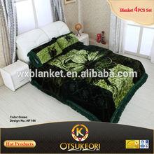 100% Polyester New Design Style Blanket 3D Bedsheet Set made in OTSU KEORI