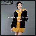 2015 rex rabbit fur casaco casual casacos de pele casaco de peles capa estilo longo cor amarela e preta jaqueta casaco da china