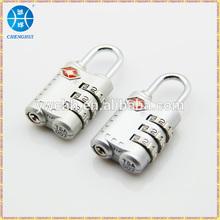Zinc alloy tsa lock travel tsa luggage lock 3 digit tsa combination lock