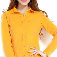 2014 women clothing latest blouse long sleeve corduroy shirt
