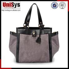 Special designed national pattern short handle handbag