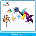 De plástico de bricolaje de molino de viento, los molinos de viento de juguete palo para los niños en 2015