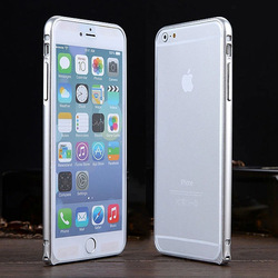 rounded metal bumper case for iphone 6 with hippocampal buckle,bumper case for iphone 6