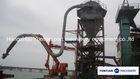 Vacuum power bulk material unloader