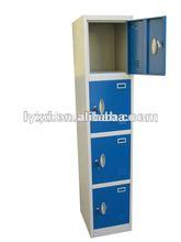 4doors tier steel wardrobe student office gym hospital metal pad lock factory locker