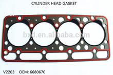 Cylinder head gasket for Kubota diesel engine V2203 OEM 6680670