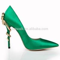 CATWALK-S110273-1 metal heel european shoe brands ladies fancy shoes woman pump name brand wholesale shoes