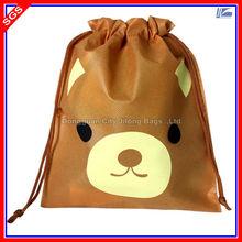 Small Non Woven Fabric Drawstring Gift Bag With Custom Logo