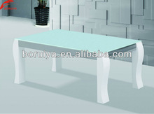 glass top wooden base coffee table white console table