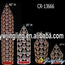 "30"" Big custom rhinestone large pageant crowns for sale"
