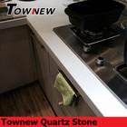 Non-absorbent low maintenance non-porous quartz stone kitchen countertop