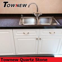 Black spot sparkling man-made quartz stone kitchen countertop