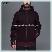 European and USA brand fashion style custom maroom full zip up hoodie cotton&fleece latest design cotton men hoodie