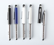 4 in 1 metal laser pen with ball pen touch pen led light
