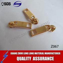 Fashion Design locking zipper sliders