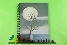2015 new design spiral notebook color pages