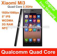 Wholesale 5.0 inch Original XIAOMI M3 Mi3 64G phone Snapdragon 800 GSM/WCDMA 13.0MP Quad core 5 inch mobile phone 1920*1080