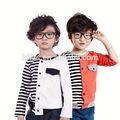 حار بيع رخيصة hfr-t696 2014 الخريف أزياء الأولاد الكورية تريكو الاطفال