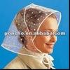 Rain bonnet/ plstic rain hood/rain hat