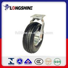 Black Polyurethane Fixed Castor Wheels