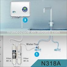 Tap montada generador de ozono de purificación de agua con carbón activo y membrana de ultrafiltración filtros