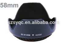 58mm Petal Lens Hood Flower Lens Hood , Round Flower Lens Hood