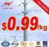 Galvanized electric wooden poles,new designed electric wooden poles