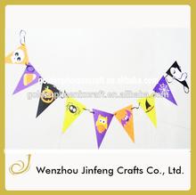 halloween monster pennant banner flag design decoration