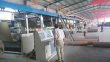 Auto three layer corrugated cardboard production line machine