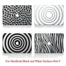 2014 New Designs Black Vinyl Laptop Decal for MacBook