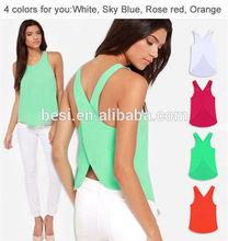 Latest design sari blouse stitching/hot sale women clothes 2015/simple lady top