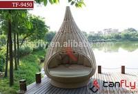 TF-9450 rattan nestrest/ birdnest/Rattan hanging bed, Outdoor woven wicker water drop nest