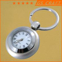 custom high quality plating metal key chain / fashion metal clock keychain /souvenirs key ring