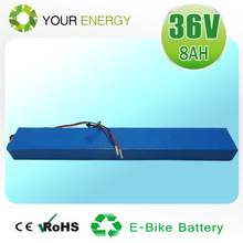 CE certified 36v electric bike battery with mountain and city bicycle