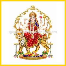30*40cm Gold foil plated indian Ganesha hindu god painting
