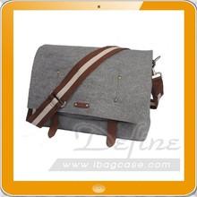 2015 new style 100% wool felt laptop bag