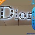 con retroiluminación led de metal alfabeto letras para la decoración