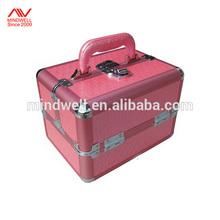 Fashion PU Leather Aluminum Makeup Case